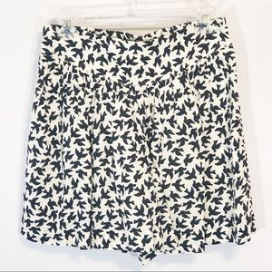 Anthropologie Leifnotes bird shorts size 4 skort